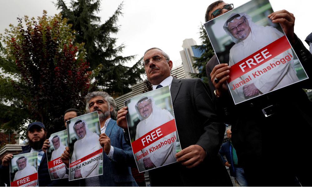Activistas y amigos de Khashoggi.