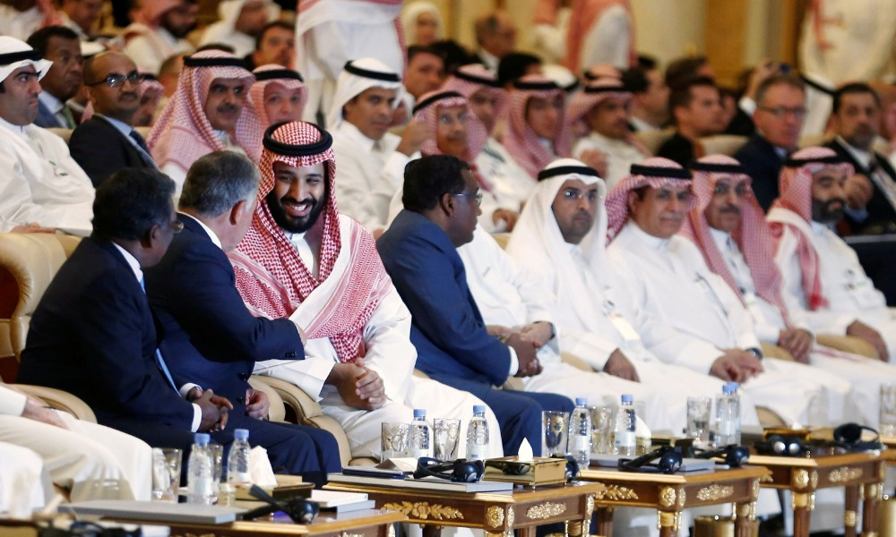 Mohamed Bin Salmán y el rey Abdulán II de Jordania