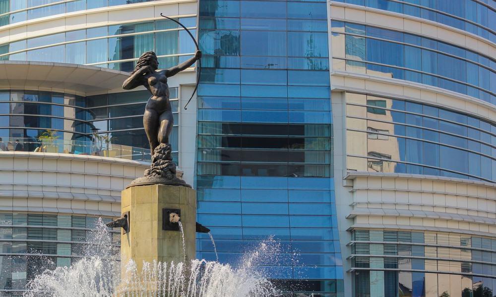 Estatua de Diana Cazadora en la Ciudad de México