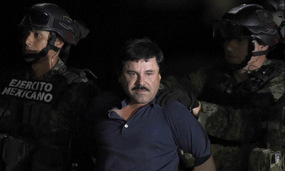 El Chapo Guzmán, tras su recaptura en 2016