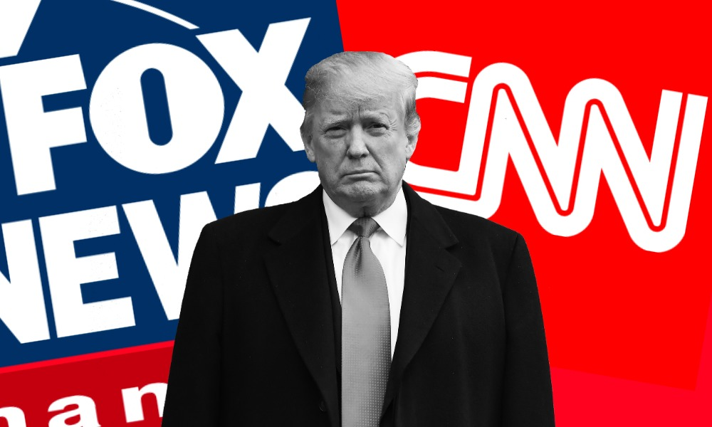 Donald Trump, CNN, FOX News