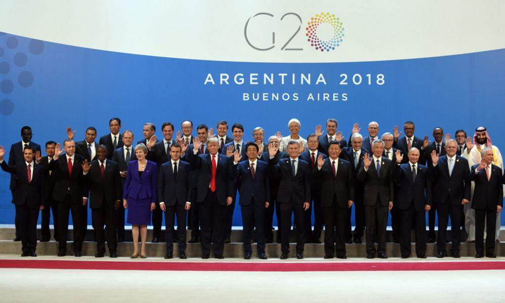 Foto de familia de la cumbre de G20 en Argentina
