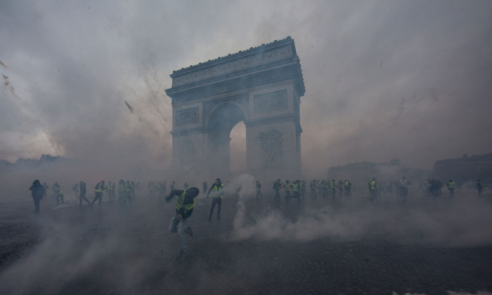 Protestas en Francia de los chalecos amarillos (Getty Images)