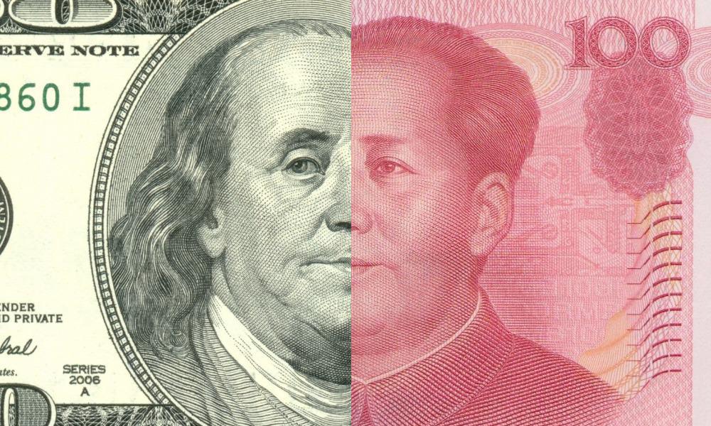 Dollar, yuan, dólar