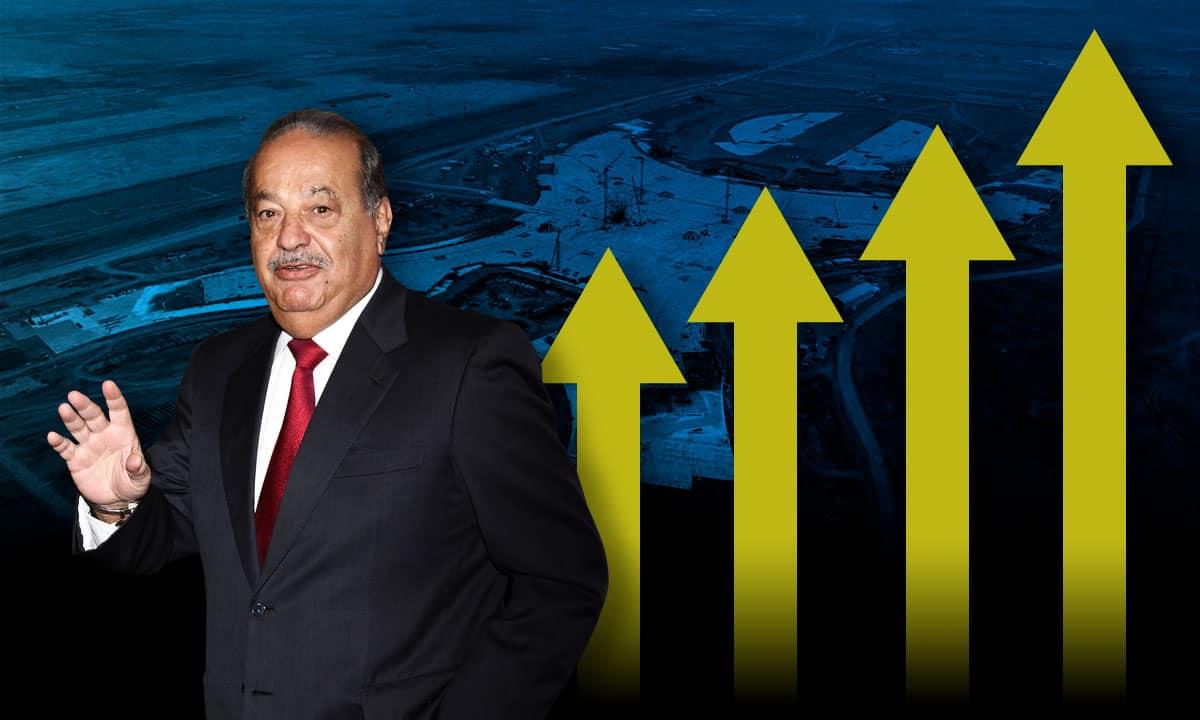 Las acciones de Grupo Carso suben y otras empresas ligadas al NAIM bajan.