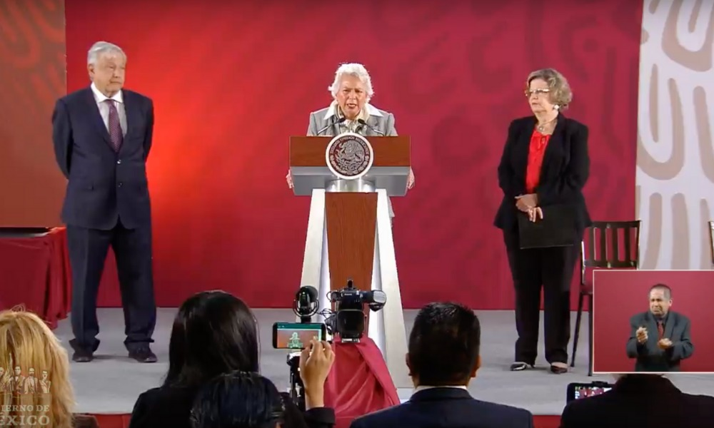 Andrés Manuel López Obrador, Olga Sánchez Cordero, Nadine Gasman