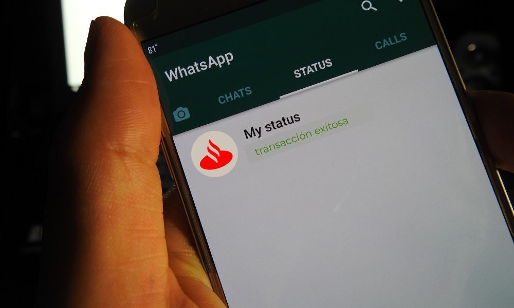 Santander, WhatsApp