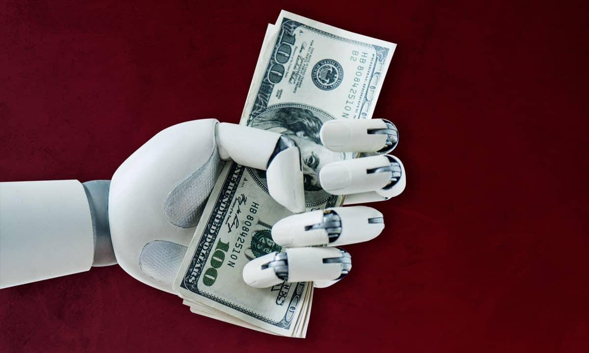 Robot con dinero