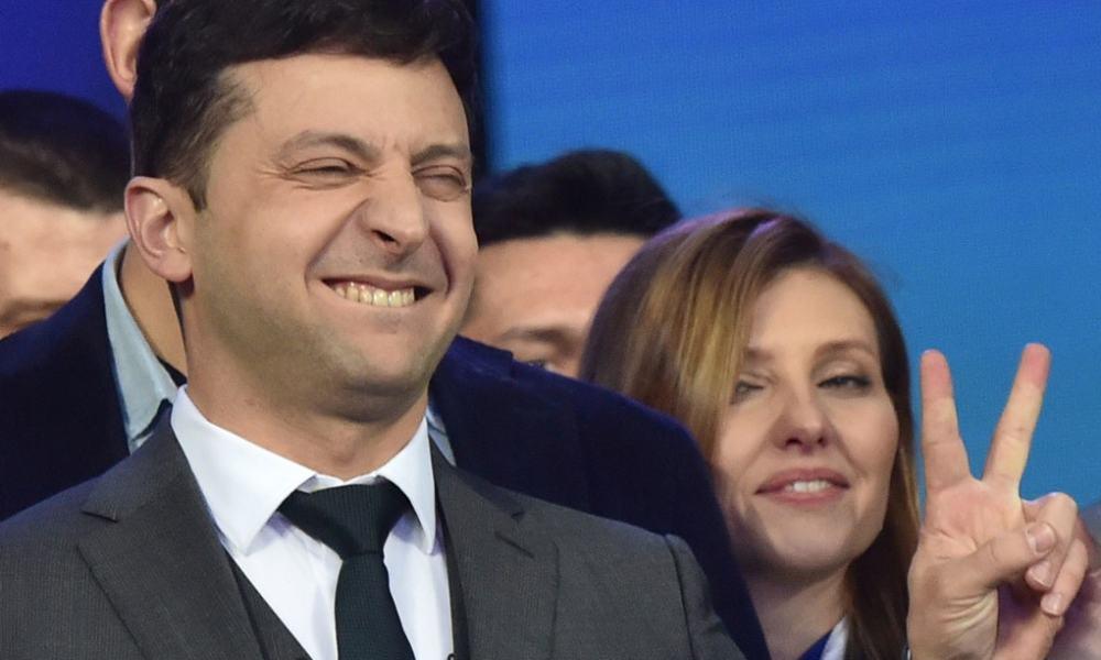 Volodymyr Zelenskiy, actor cómico y aspirante a presidente de Ucrania.