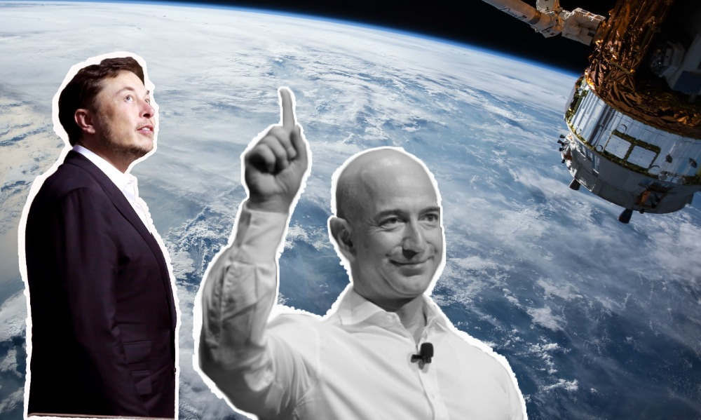 Elon Musk, Jeff Bezos