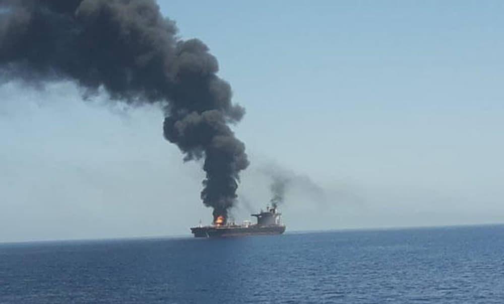 Omán, ataque, buque petrolero