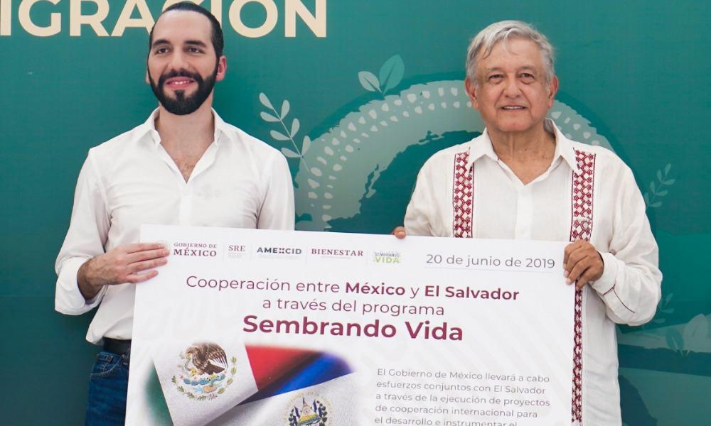 Nayib Bukele Ortez y Andrés Manuel López Obrador