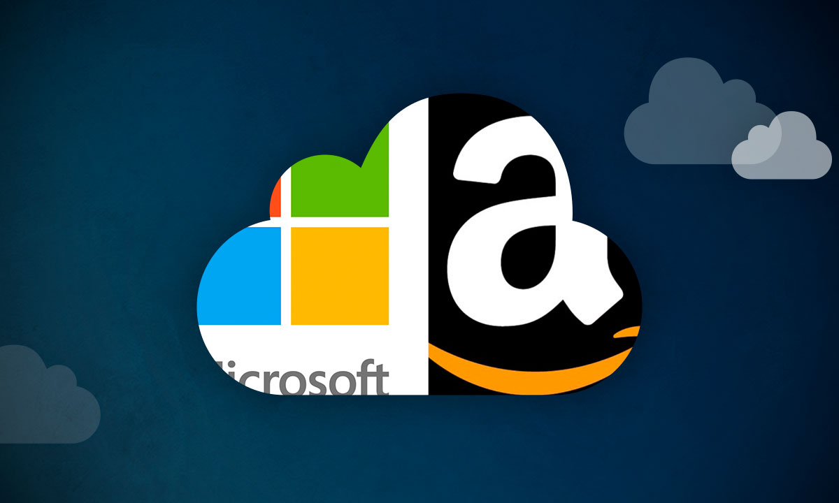 Amazon y Microsoft nube