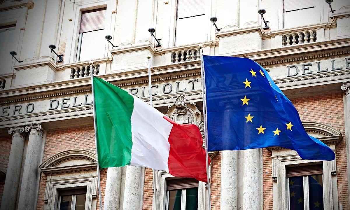 Bandera Italia UE