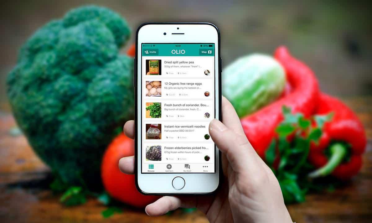 Olio te ayuda a compartir comida y objetos