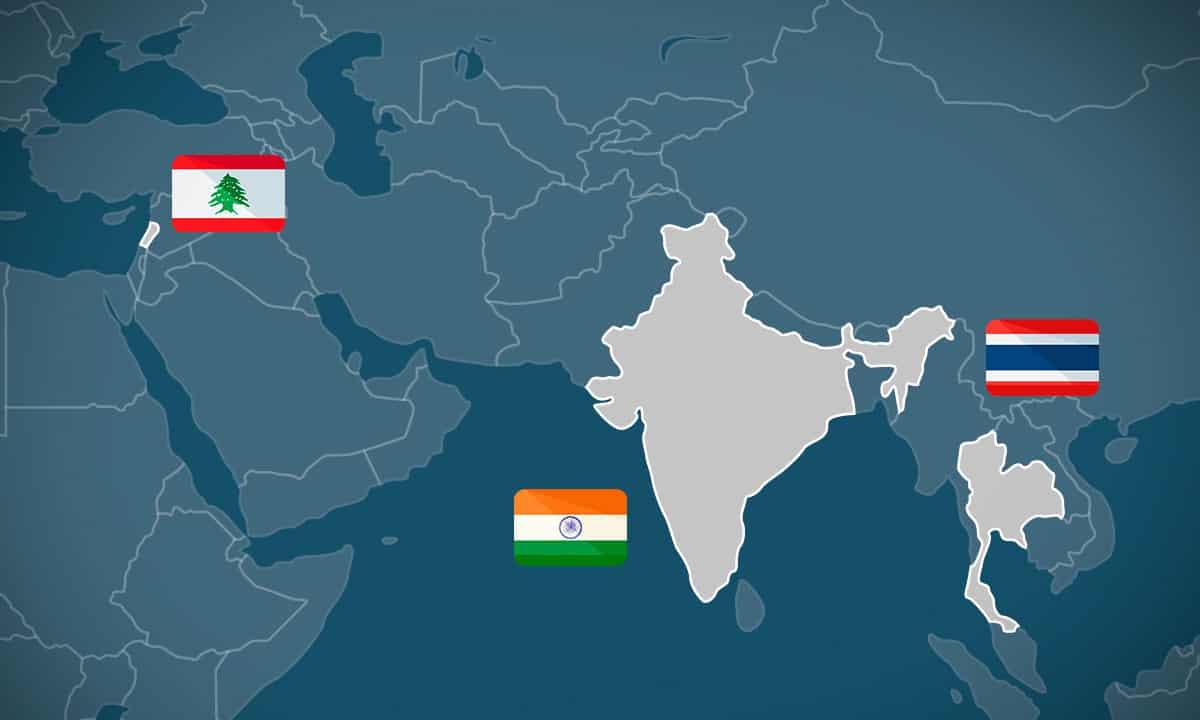Protestas Tailandia, Líbano, India