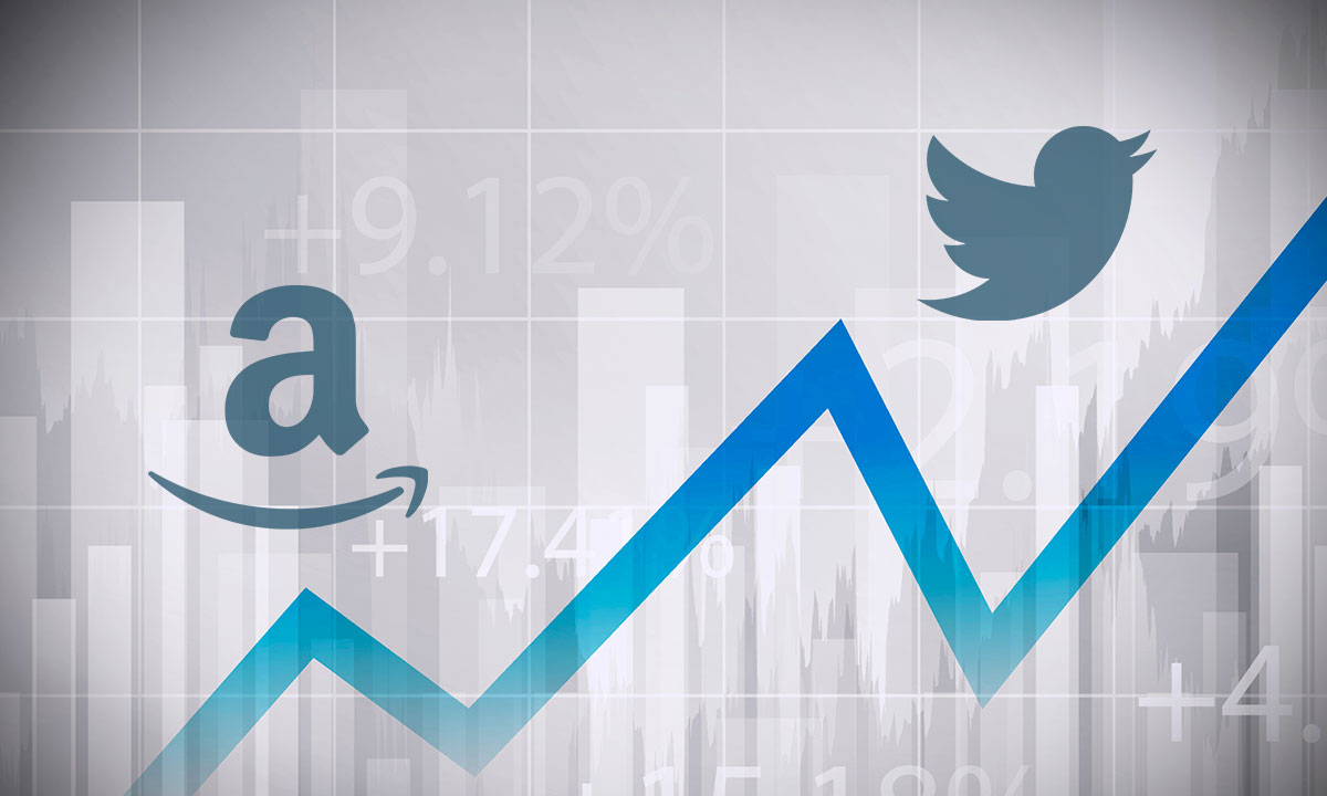 Amazon y Twitter acciones