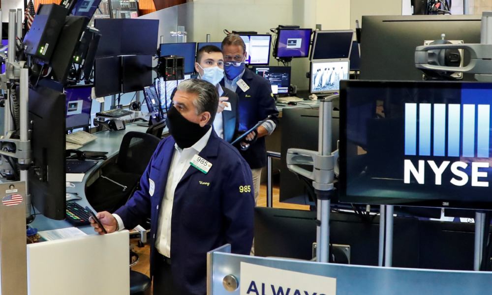 NYSE Wall Street regreso