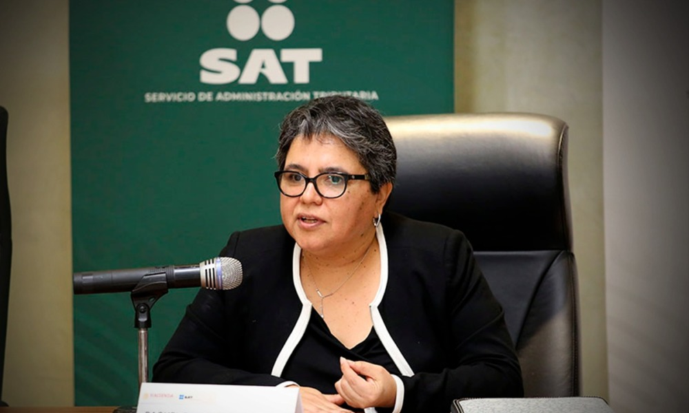 Raquel Buenrostro, jefa del SAT (Foto: SAT)