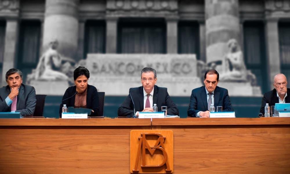 Junta de Gobierno de Banxico. Foto: Flickr Banxico / Arte: Cristian Laris