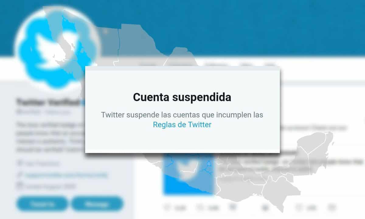 suspensión cuentas Twitter México