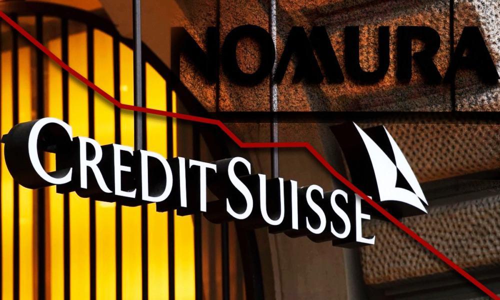 acciones de Credit Suisse y Nomura